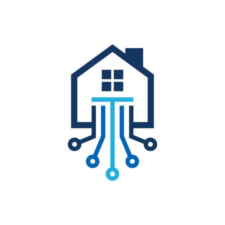 Tech House Logo Icon Design Stock Vector - 101450631