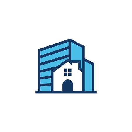 Building House Logo Icon Design Illusztráció