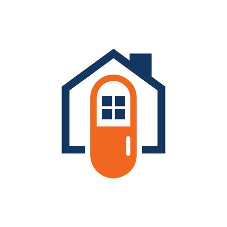 Medicine House Logo Icon Design