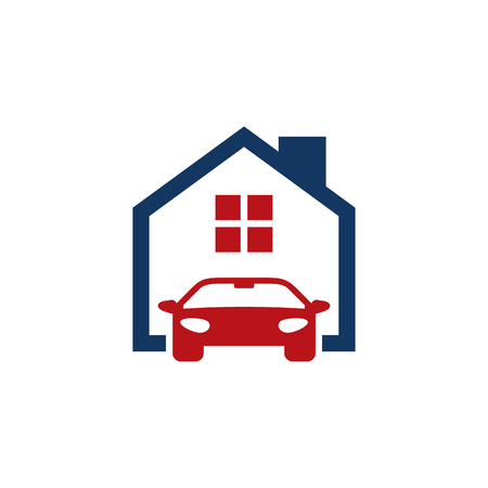 Automotive House Logo Icon Design Illusztráció