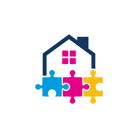Puzzle House Logo Icon Design