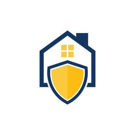 Shield House Logo Icon Design Stock Vector - 101450827