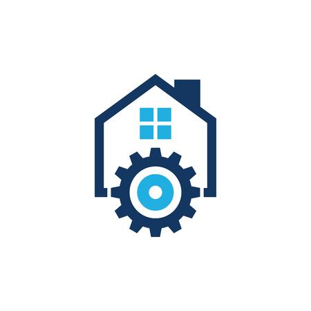 Gear House Logo Icon Design