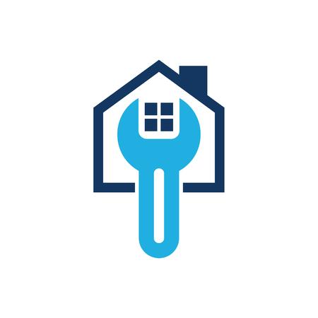 Repair House Logo Icon Design