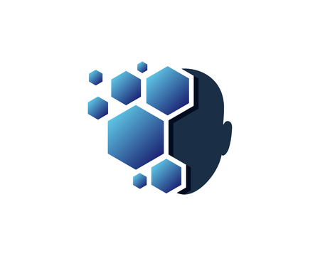 Hexa Human Head Logo Icon Design