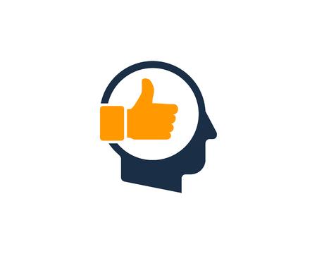 Best Human Head Logo Icon Design Stock Vector - 101451411