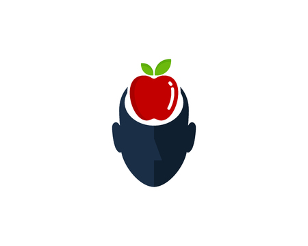 Fruit Human Head Logo Icon Design