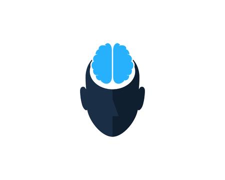 Brain Human Head Logo Icon Design