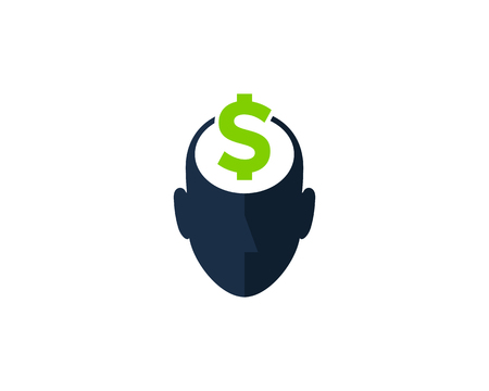 Money Human Head Logo Icon Design
