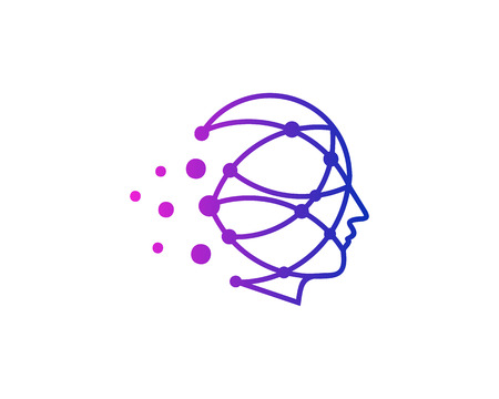 Dot Human Head Logo Icon Design