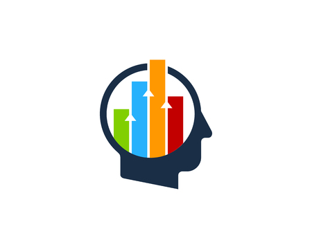 Graph Human Head Logo Icon Design