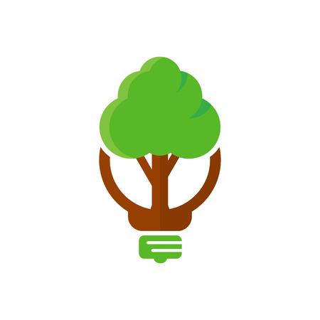 Tree Idea Logo Icon Design
