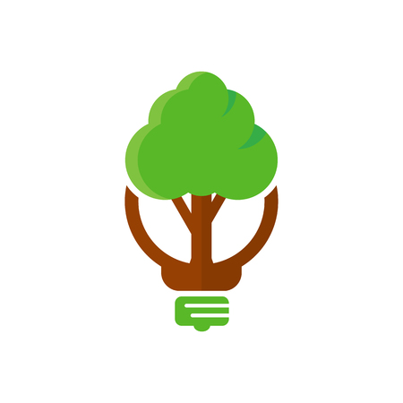 Tree Idea Logo Icon Design