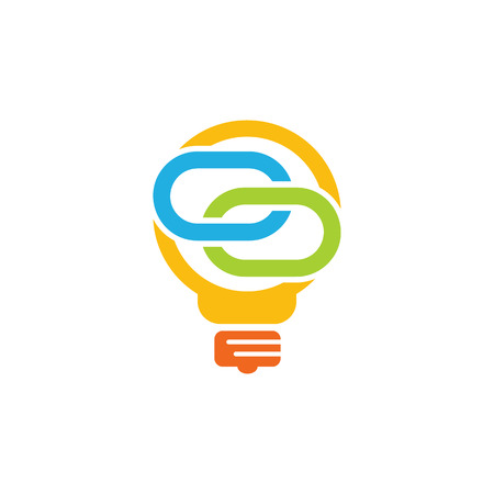 Connect Idea Logo Icon Design Illustration
