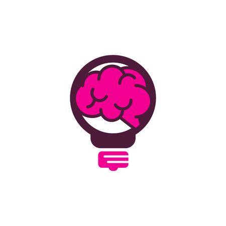 Brain Idea Logo Icon Design Ilustrace