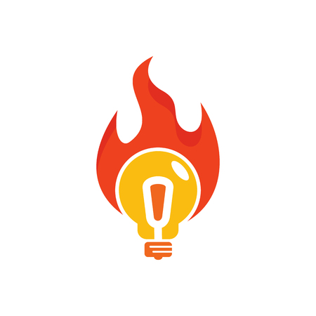 Fire Idea Logo Icon Design Çizim