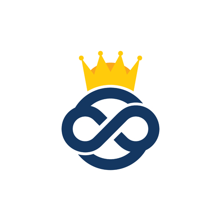 King Infinity Logo Icon Design