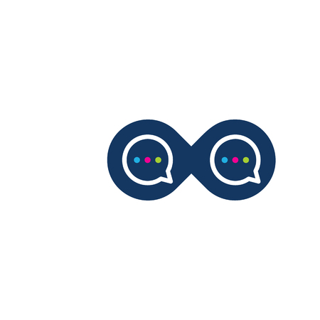 Talk Infinity Logo Icon Design Illustration