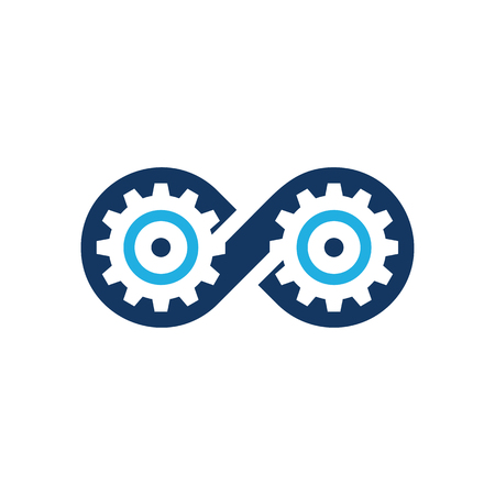 Gear Infinity Logo Icon Design