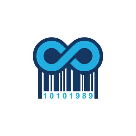 Barcode Infinity Logo Icon Design
