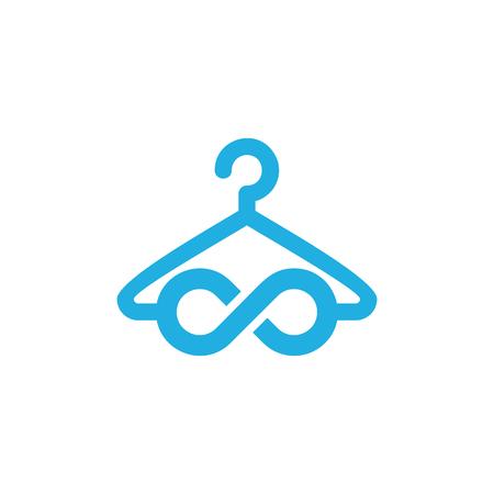 Laundry Infinity Logo Icon Design