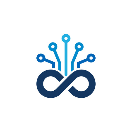 Digital Infinity Logo Icon Design