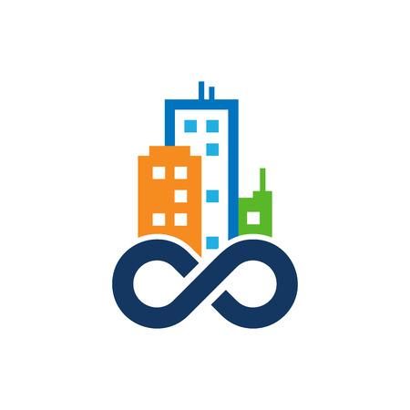 Town Infinity Logo Icon Design