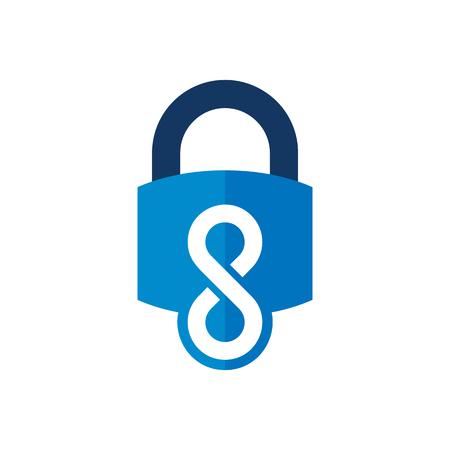 Lock Infinity Logo Icon Design Foto de archivo - 101452334