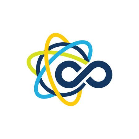 Science Infinity Logo Icon Design Foto de archivo - 101452348