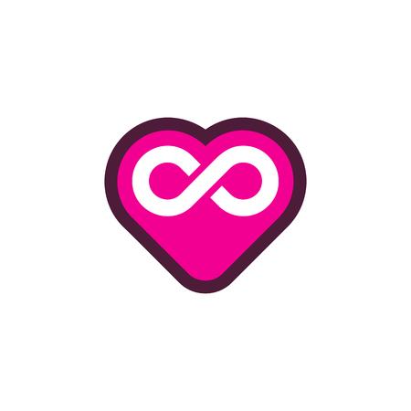 Love Infinity Logo Icon Design