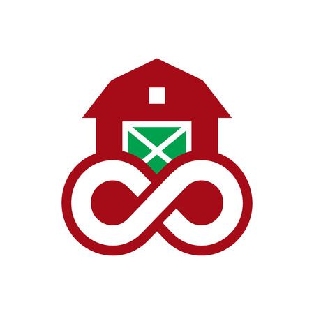 Farm Infinity Logo Icon Design Иллюстрация