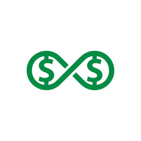 Money Infinity Logo Icon Design Foto de archivo - 101452505