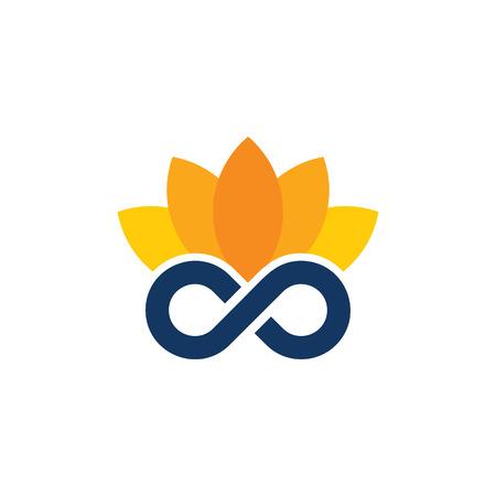 Lotus Infinity Logo Icon Design
