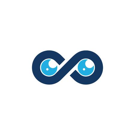 Vision Infinity Logo Icon Design Illustration