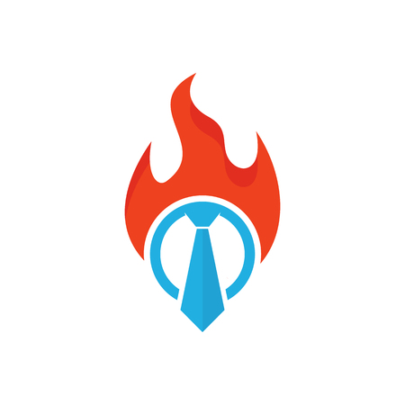 Fire Job Logo Icon Design Stock Illustratie