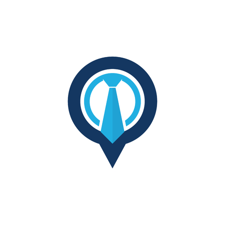 Point Job Logo Icon Design 일러스트