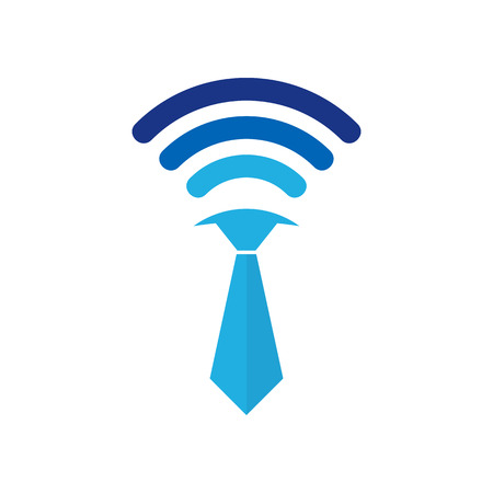 Wifi Job Logo Icon Design 일러스트