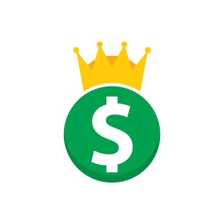 Money King Logo Icon Design Ilustracja