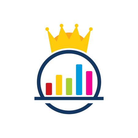 Data King Logo Icon Design