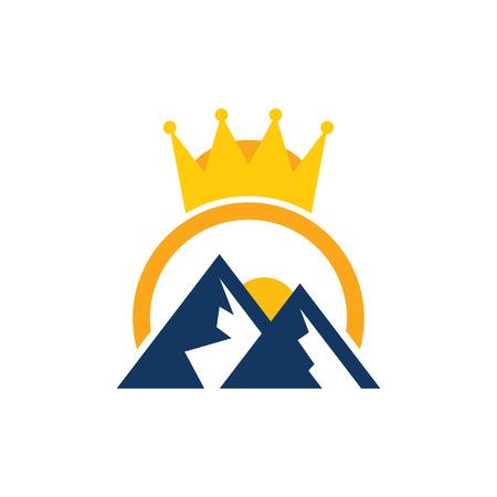 Mountain King Logo Icon Design Standard-Bild - 101452933