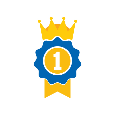 Best King Logo Icon Design Ilustração