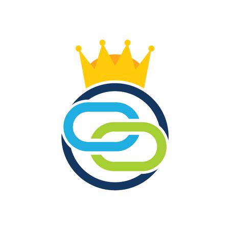 Connect King Logo Icon Design Illustration