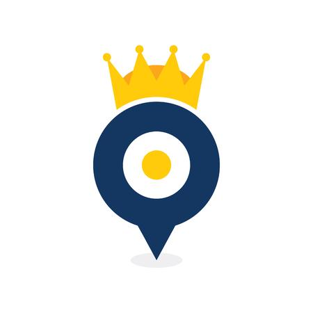 Point King Logo Icon Design Illusztráció
