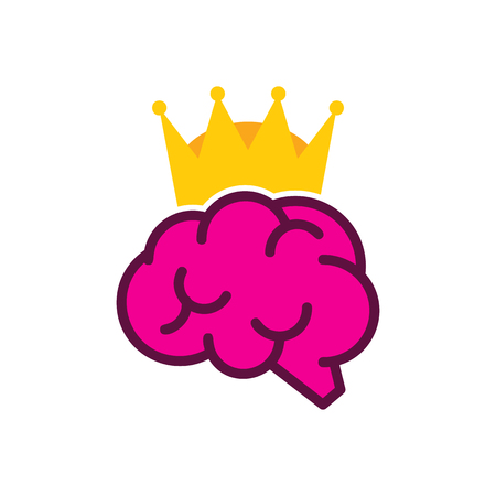 Brain King Logo Icon Design Çizim