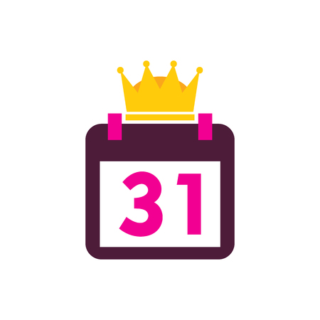 Calendar King Logo Icon Design Stockfoto - 101449577