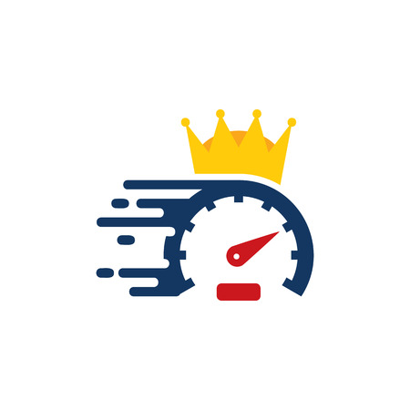 Speed King Logo Icon Design Foto de archivo - 101452974