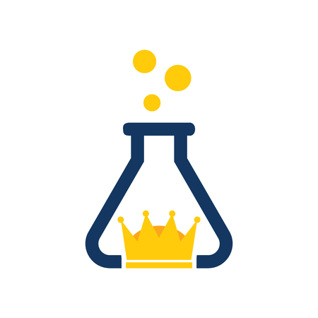Crown Lab Logo Icon Design
