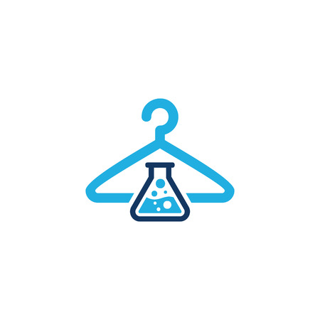 Laundry Lab Logo Icon Design Illustration
