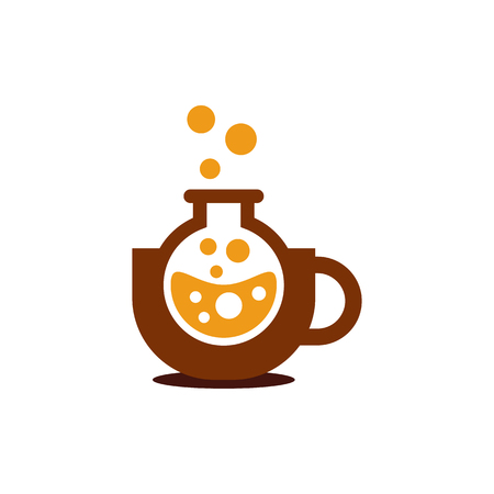 Coffee Lab Logo Icon Design Illustration