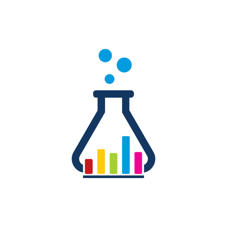 Graph Lab Logo Icon Design Vettoriali
